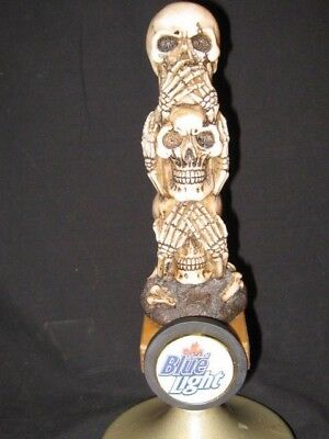 beer tap handle stacked skulls labatt blue light