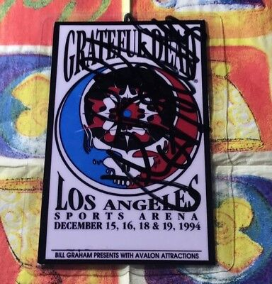 Grateful Dead, Jerry Garcia, Backstage Pass! Original Handsigniert! Signed!