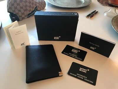 Auth Montblanc Meisterstuck Solitaire Leather Small Portfolio 30804 Card Holder
