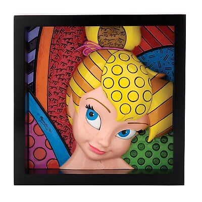 Tinker Bell Pop Art Block Plack Figurine Disney Britto 9-Inch 4033868 Enesco NIB