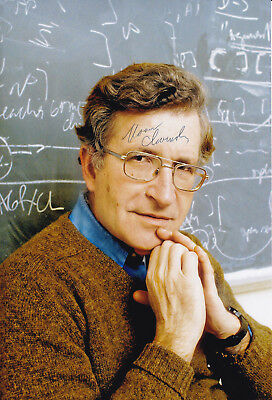 Noam CHOMSKY (1928) original sign. portrait photo 20x30cm - autograph - Selten!