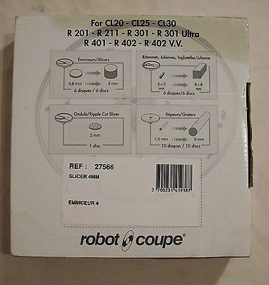 ROBOT COUPE #27566 4mm Slicing Disk Eminceur-4 Food Processor Slicer NEW IN BOX