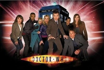DOCTOR WHO  - Rare Poster Featuring David Tennant & The Children Of Time Cast