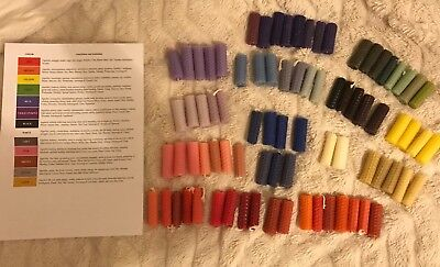 80 Rolled Bees Wax Spell Candles Wicca Witchcraft Bundle