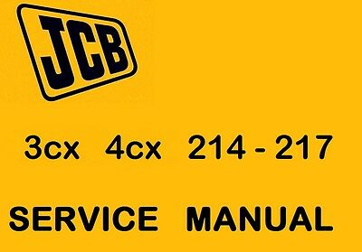 JCB  3cx  4cx   Early   Service  Maintainance  Manual  CD  M/C No 290000 to 400k