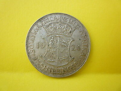 George V Silver Coin South Africa 2 1/2 Shillings Dated 1924
