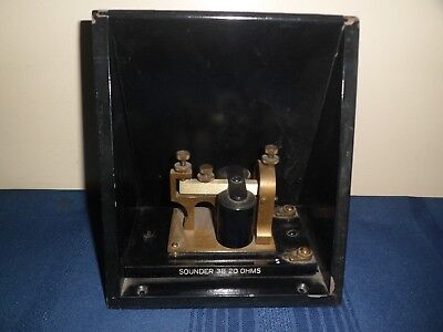 Antique Western Electric Telegraph Sounder 3B 20 OHMS with Resonator