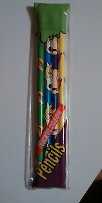 Vintage 1994 nickelodeon Ren and Stimpy Rock-o's modern life Hardees pencils new