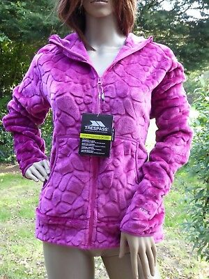 *TRESPASS* Ladies Pink AT200 AIRTRAP PERFORMANCE FLEECE Hoodie Lg BNWT rrp£60