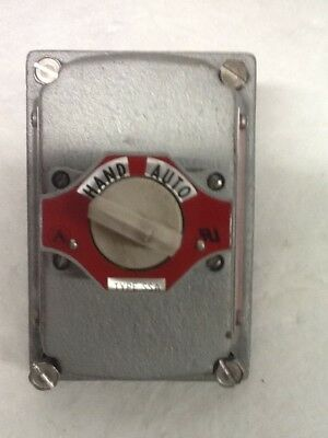 Appleton EDKB35 Cover W/ 2-Position Hand/Auto Selector Switch Explosion Proof