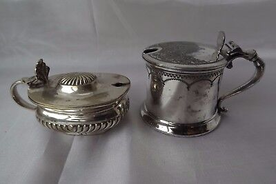 silver plated mustard pots