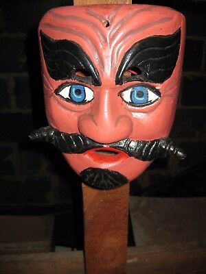 Mexican Mask - Pink Moustache Man
