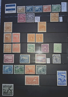 Mint & Used Nicaragua & Paraguay 1862-1983. 93 Stamps.