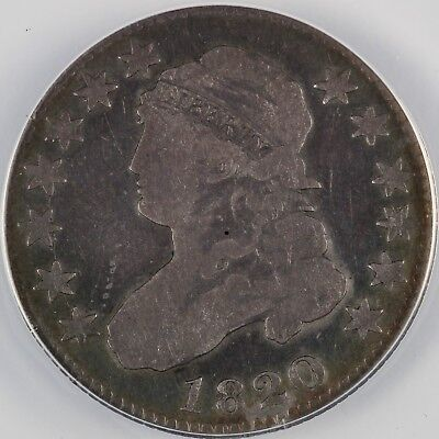 1820 25C Capped Bust Quarter ANACS VG10 DETAILS CLEANED