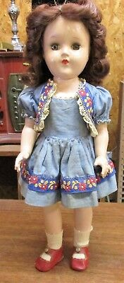 "Vintage 14"" Ideal Toni Doll P-90 Original outfit and Shoes"
