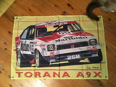 Torana Bathurst 05 Monaro Peter Brock barware biker 3x2 ft mancave flag poolroom