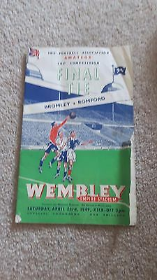 1949 - Bromley v Romford, FA Amateur Cup Final Match Programme