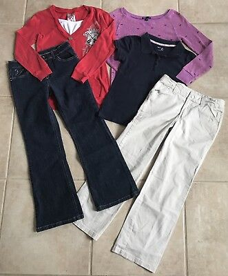 Girls Clothes Lot Size 10 Shirts Cardigan Jeans Pants Outfits Nice School
