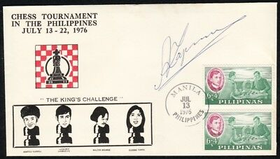 Philippines - 1976 Chess Tournament Souvenir Cover, SIGNED by KARPOV