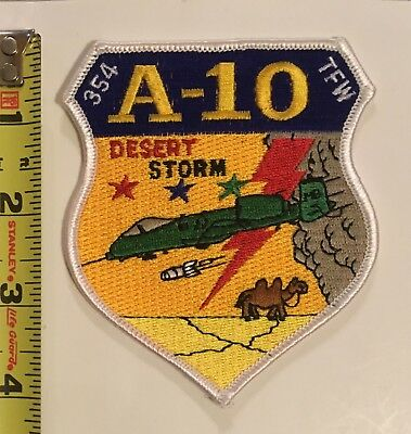 USAF Patch - 354th Tactical Fighter Wing TFW A-10 Desert Storm Rare!