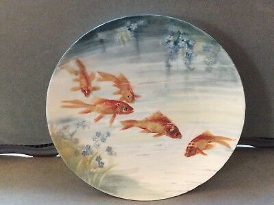 Antique Saxony Hand Painted Charger