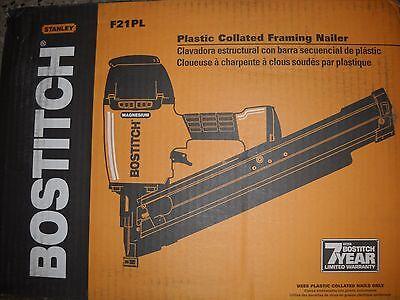 BOSTITCH F21PL Plastic Collated Framing Nailer Round Head Positive Placement NEW