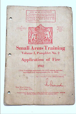 Original 1942 British Small Arms Training Manualvolume 1 No 2
