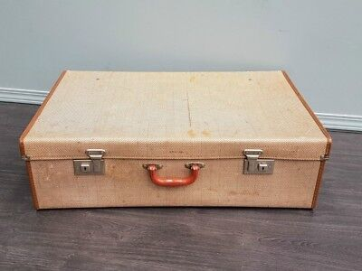 Large Vintage English Suitcase by Cheeney