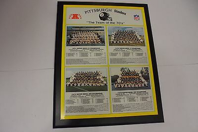 Healy 15X19 Framed Wall Plaque Pittsburgh Steelers Super Bowl Champ Teams 70's