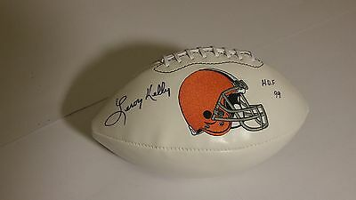 New Larry Kelly Autographed Foot Ball/ Hof   Certified