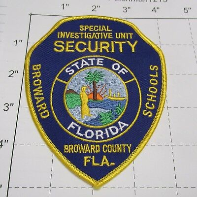 Broward County Schools Special Investigative Unit Security Siu Dps Florida Patch