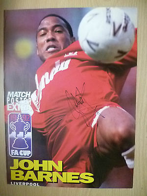 Original Hand Signed Press Cutting- JOHN BARNES, Liverpool FC ( apx A4).