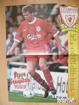 Original Hand Signed Press Cutting POSTER- STEVE STAUNTON,Liverpool FC(16.5x11.5