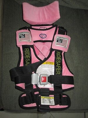 Ridesafer Ride Safer Harness Vest Children Safety 30-60 Lbs. Car Protection