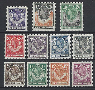 Northern Rhodesia QEII 1953 SG61-71 Short set to 2s6d Unmounted mint MNH Cat £25