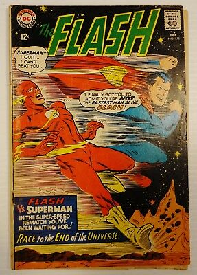 """The Flash #175 DC (1967) """"2nd Superman/Flash Race"""" Key Issue FN- 5.5"""