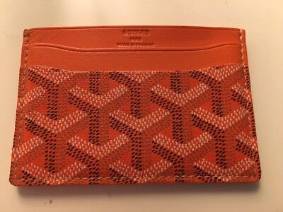 Authentic Orange Goyard Card Case