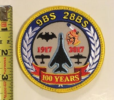 USAF Patch - 9th & 28th Bomb Squadrons B-1B Lancers 100 Years Anniversary Rare!