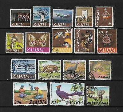ZAMBIA - mixed collection No.4, 1968 & 1975 issues + 1979 surch, used
