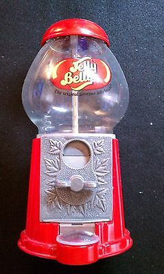 """Jelly Belly Jelly Beans 9"""" Mini gumball Machine Red - Used"""