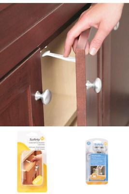 14 Pack Grip Lock Latch Drawer Cabinet Baby Child Safety Proof Locks Latches New
