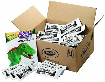 Crayola 23-6001 Model Magic Modeling Compound Class Pack, White, 1-oz. Pouches,