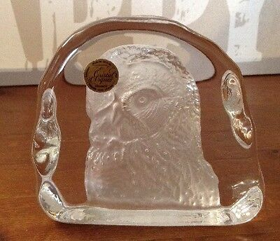Art Collection - Cristal D' Arques 3D Ornament/Paperweight - Owl