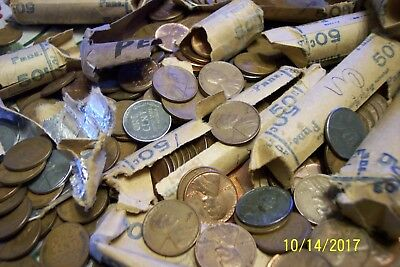 """"""" Bag O Wheat Pennies """" 1000  Lincoln Wheat Cents Pennies From Moms Collection"""