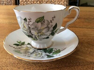 "Royal Stafford ""camellia"" Cup & Saucer China Floral"