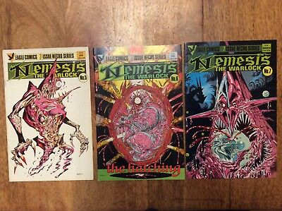 2000AD COMICS NEMESIS THE WARLOCK VOL 1 ISSUES 5, 6 and 7