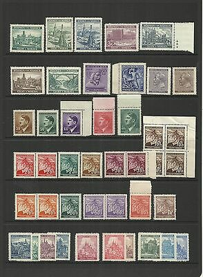 Czechoslovakia [Bohemia & Moravia] ~ 1939-44 Definitives Part Sets Accumulation