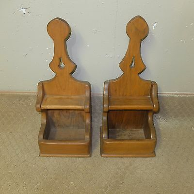 Pair Vintage of Pine Wall Sconces