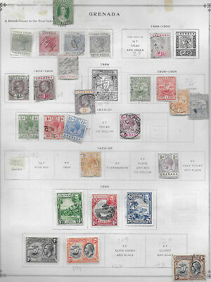 British Grenada Lot Mh/used Stamps