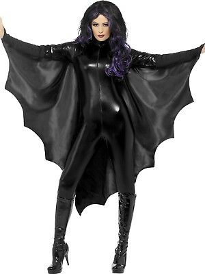 Costume Halloween Black Vampire Bat Wings Costume Cape Dracula Womens